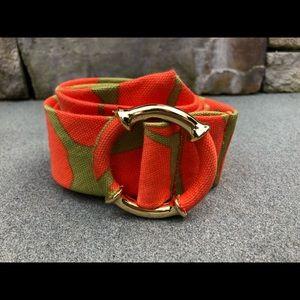 J Crew Orange/ khaki belt.
